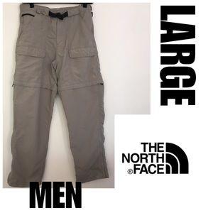 Men's L North Face Convertible Pants